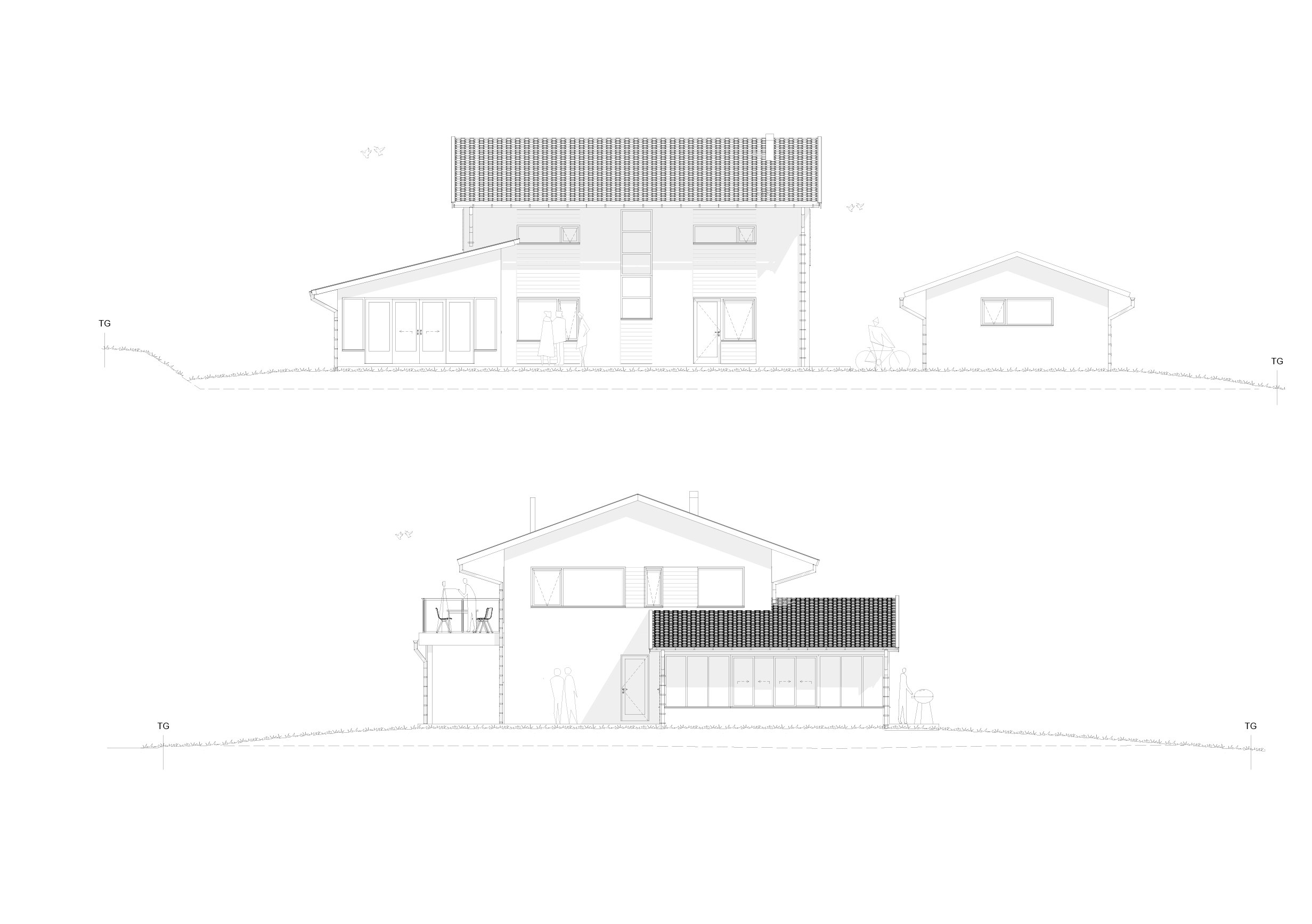 Fasad Villa lättbetong Karlskrona puts arkitekt