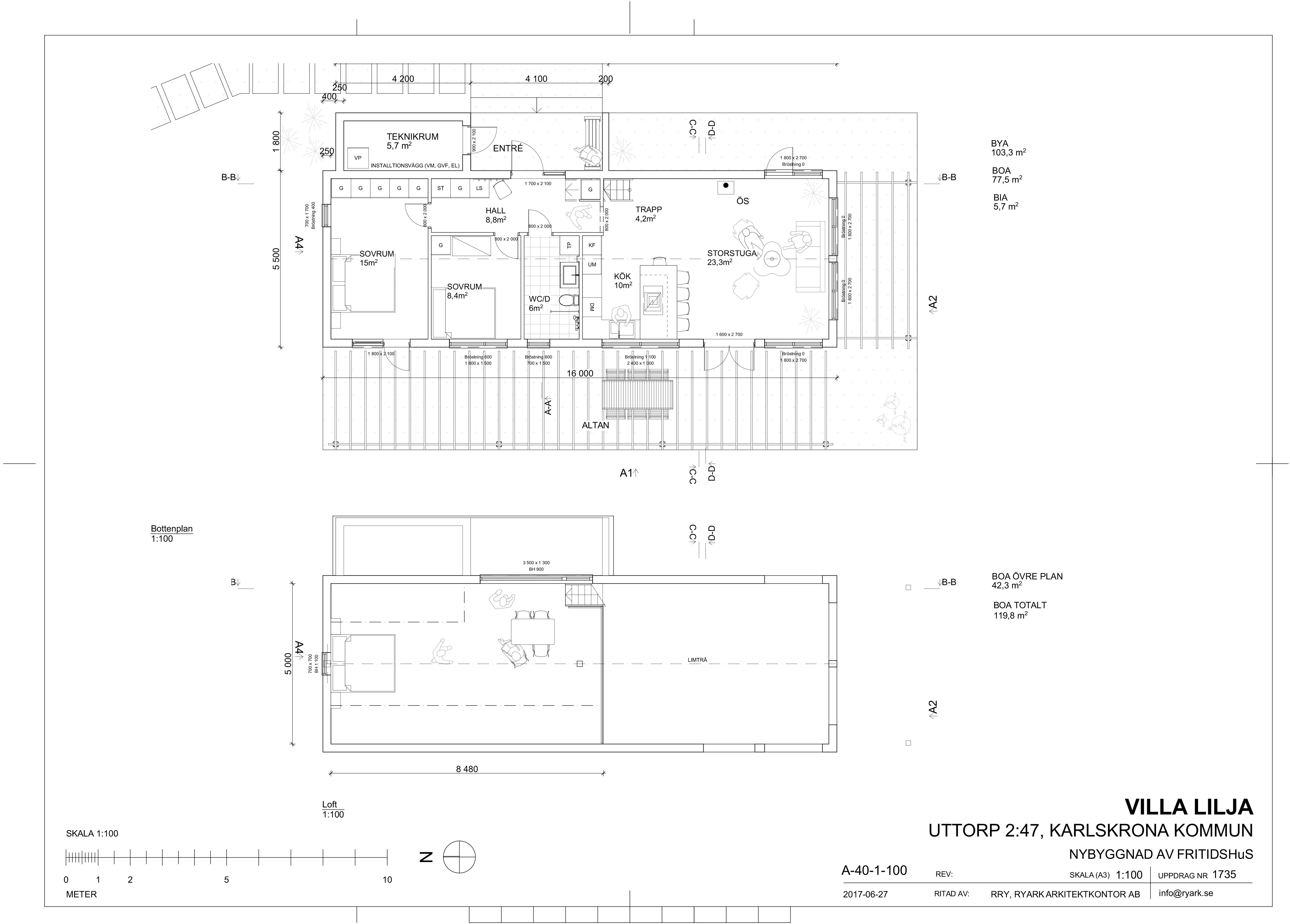 arkitekt fritidshus karlskrona Blekinge planritning