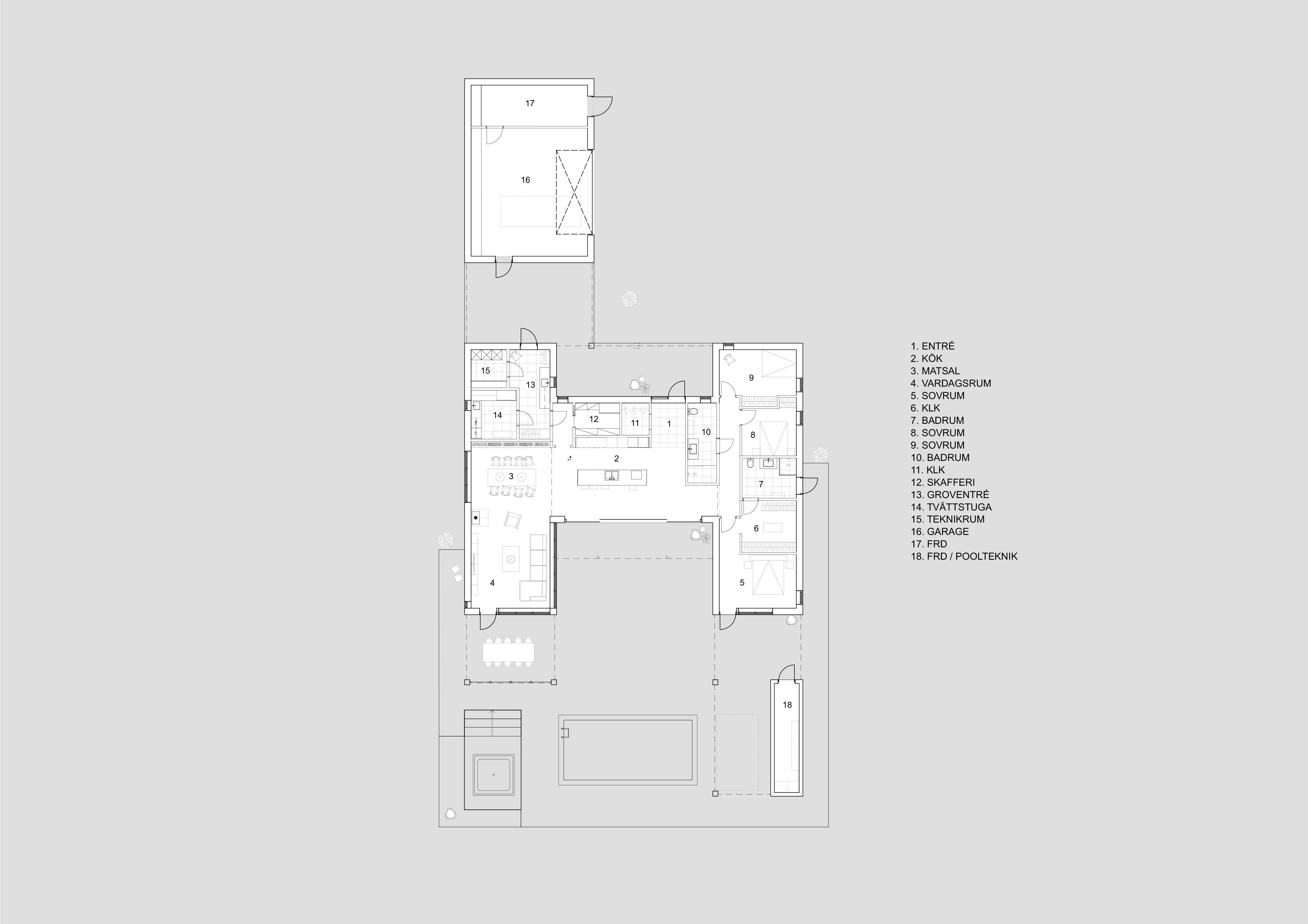 Arkitekt Villa Nättraby Lättbetong-Planritning