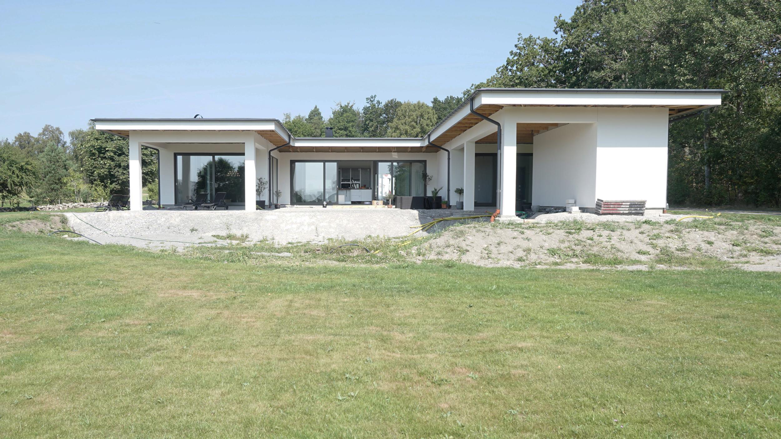 Arkitektritad villa av lättebetong